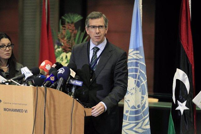 El enviado especial de la ONU para Libia, Bernardino León