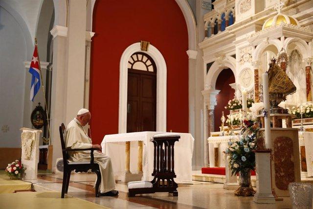 El Papa Francisco en Cuba, en el santuario de la patrona Virgen de la Caridad