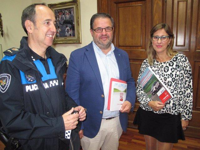 Santiago Hernández, Jesús Fuertes y Cristina Martí