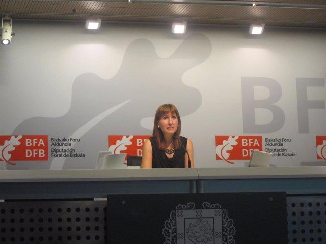 La portavoz de la Diputación de Bizkaia, Elena Unzueta