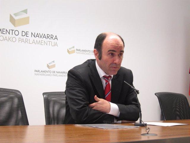 El parlamentario no adscrito Manu Ayerdi (Geroa Bai).