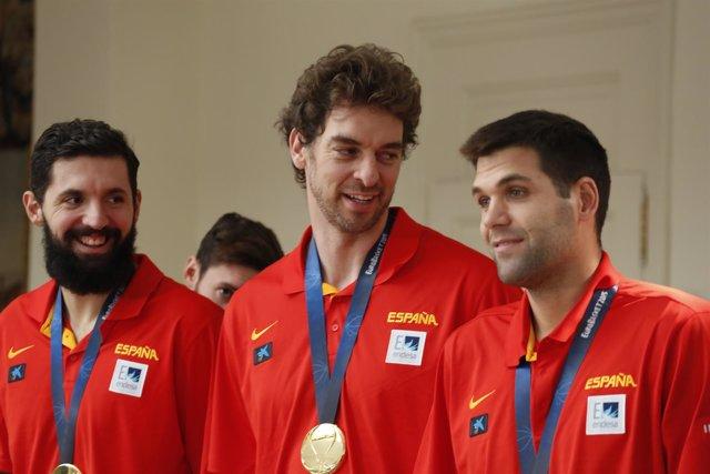 Nikola Mirotic, Pau Gasol, Felipe Reyes