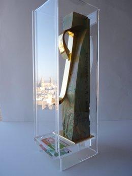 Escultura que recibirán los premiado 'Jaén, paraíso interior' 2015.