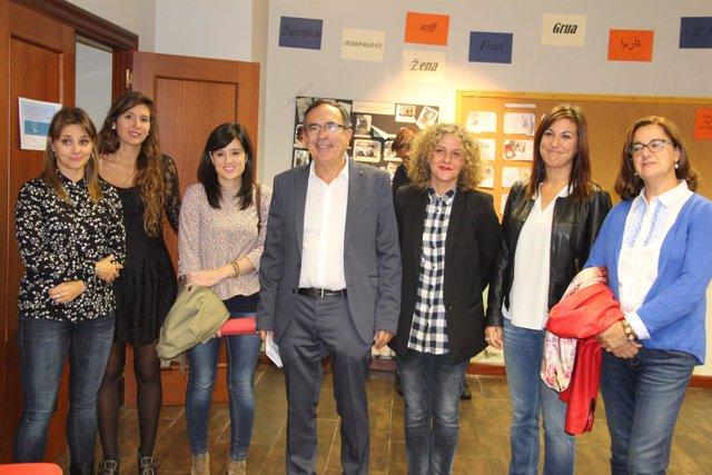 Cruz Viadero visita Espacio Mujeres
