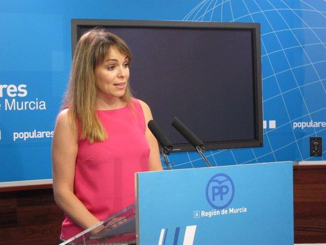 La portavoz del Grupo Municipal Popular en el Ayuntamiento de Murcia, Rebeca Pér