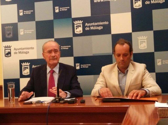 El alcalde Francisco de la Torre y Juan Cassá portavoz de Ciudadanos auto