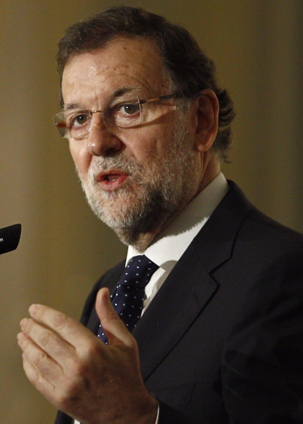 Mariano Rajoy en un desayuno informativo