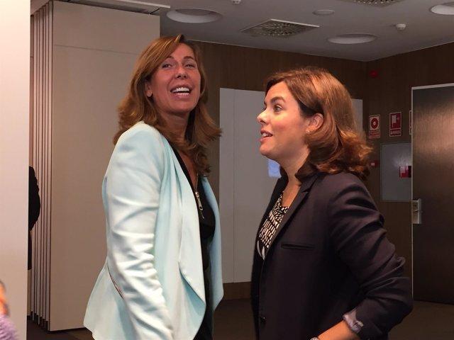 Alicia Sánchez-Camacho y Soraya Sáenz de Santamaría (PP)