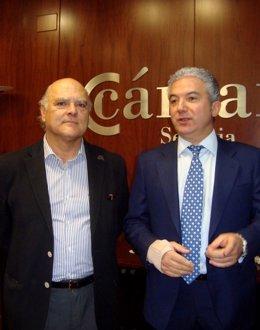 Los representantes del sector del pienso Gregorio del Canto y Pedro Palomo