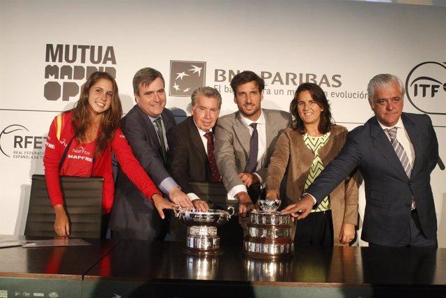 Presentación de las ediciones junior de la Copa Davis y la Copa Federación