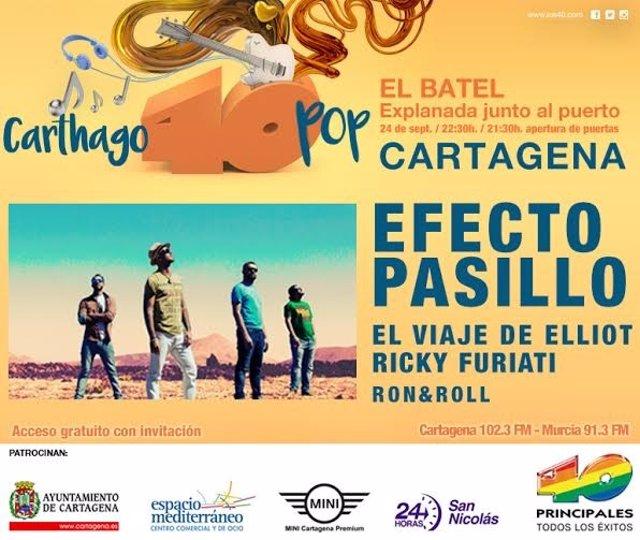 CARTEL Carthago 40 Pop llega con el directo de Efecto Pasillo
