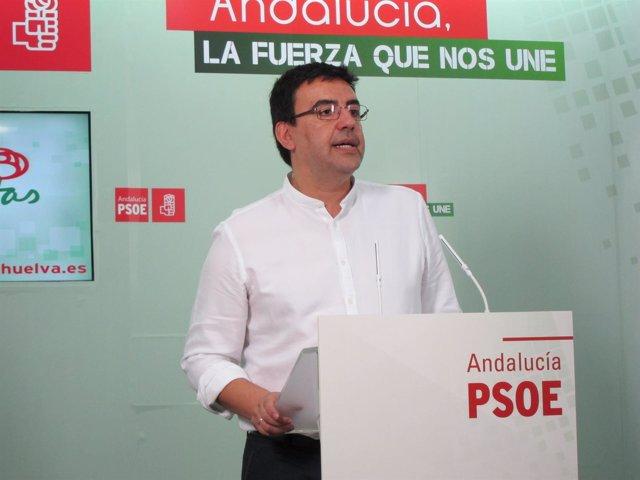 El portavoz del PSOE en el Parlamento de Andalucía, Mario Jiménez.