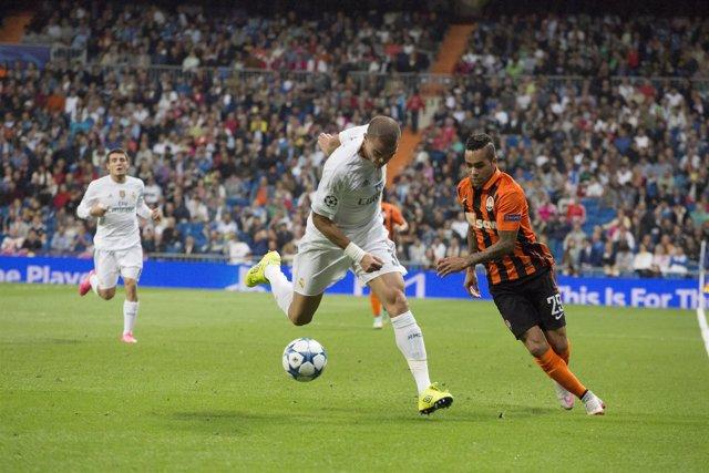 Real Madrid - Shakhartar, Alex Teixeira, Pepe