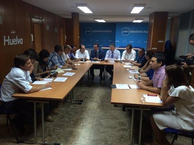 Comité de campaña para las elecciones generales del PP de Huelva.