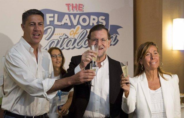 Mariano Rajoy, Xavier García Albiol y Alicia Sánchez Camacho