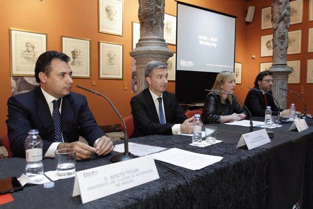 Benito Tesier, Victor Iglesias, Marta Gascón y David Romeral