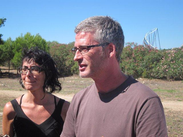 Sergi Saladié y Marta Llorens, CUP