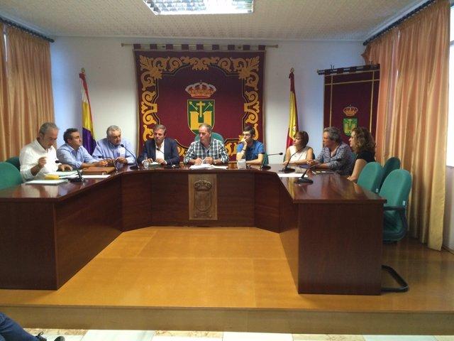 Ortega, en el Ayuntamiento de Quesada