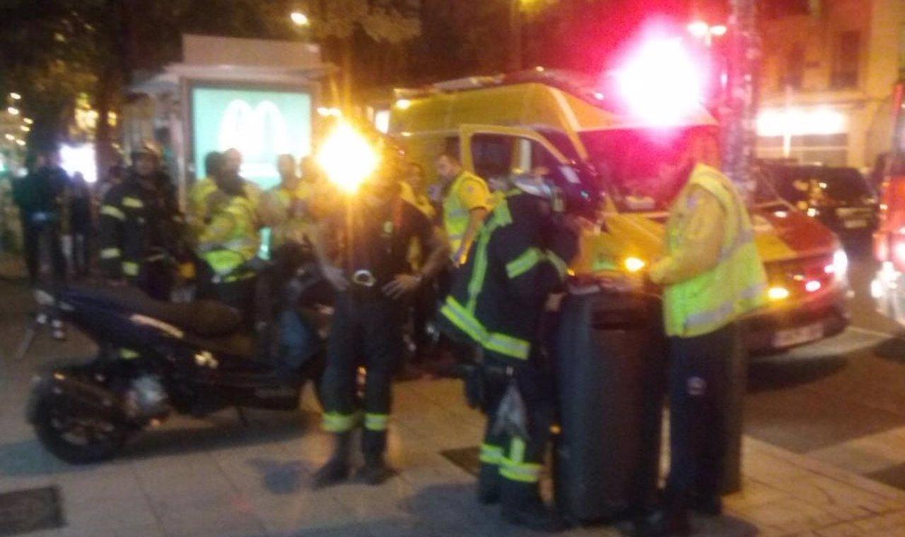 Se cae el techo de un cine en Madrid
