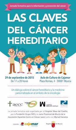 Jornada informativa sobre el cáncer hereditario y el consejo genético