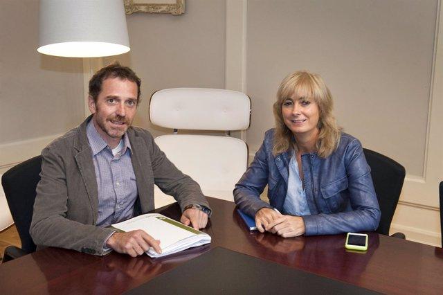 Juantxo Aguirre y Ana Ollo.