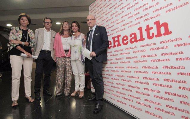 Isabel Ambrosio y Manuel Carmona con representantes del encuentro