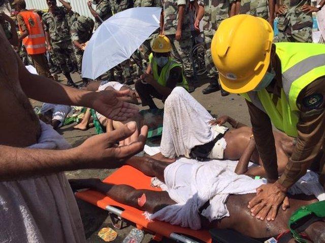 Varios de los heridos en Mina en la estampida en la peregrinación a La Meca