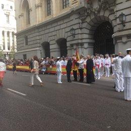 Jura de Bandera en el Paseo del Prado