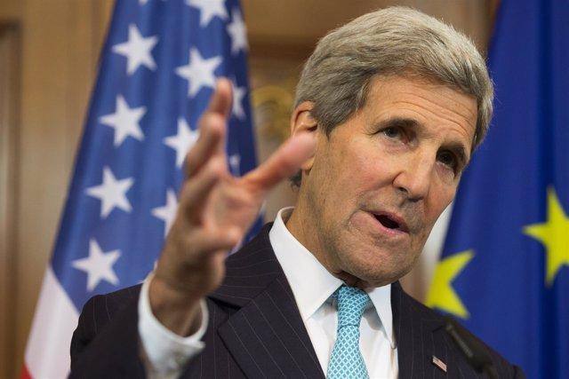 El secretario de Estado norteamericano, John Kerry, en Berlín