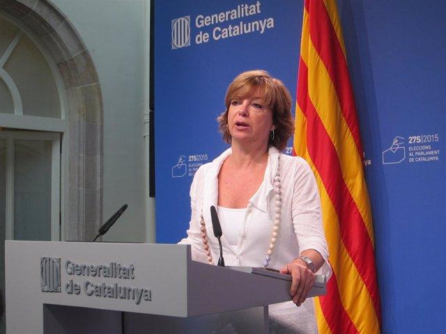La consellera de Gobernación, Meritxell Borràs, informa del dispositivo del 27S