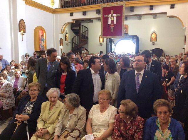 Caunedo y concejales del PP en la Romería del Cristo de las Cadenas