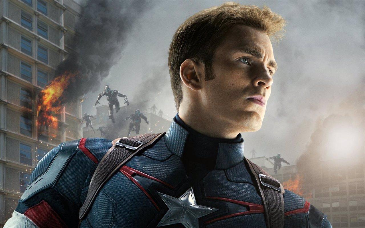 Imagen promocional de Chris Evans como Capitán América en 'Vengadores: La era de