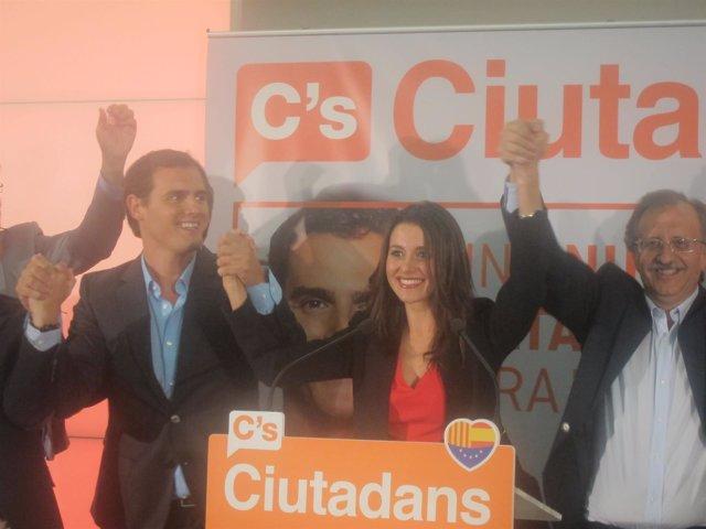 Arrimadas (C's) celebra los resultados de este 27S