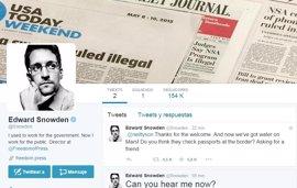 Edward Snowden irrumpe en Twitter con más de 150.000 seguidores en menos de una hora