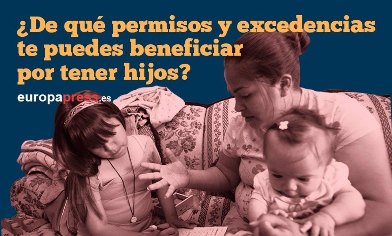De qué permisos y excedencias te puedes beneficiar por tener hijos?