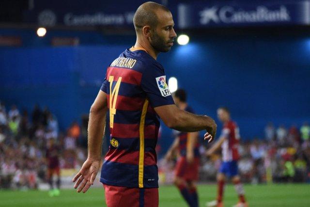 Mascherano,  Atlético de Madrid- F.C.Barcelona 12-09-2015