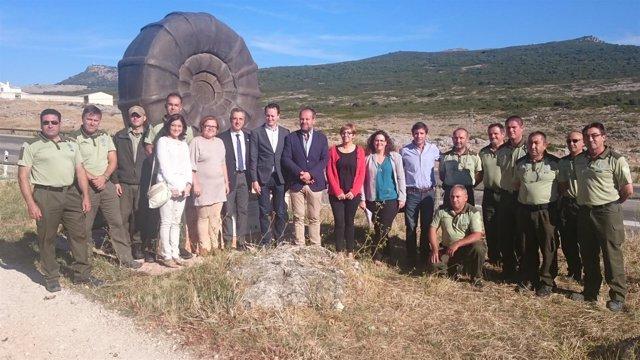 Algar (centro) con los asistentes al encuentro
