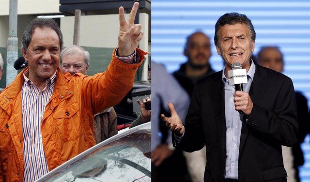 Scioli y Macri