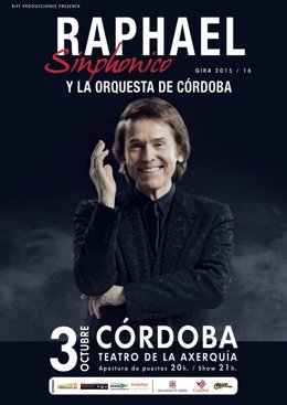 Cartel del concierto de 'Raphael Sinphonico'
