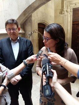 Ximo Puig y Mònica Oltra atienden a los medios