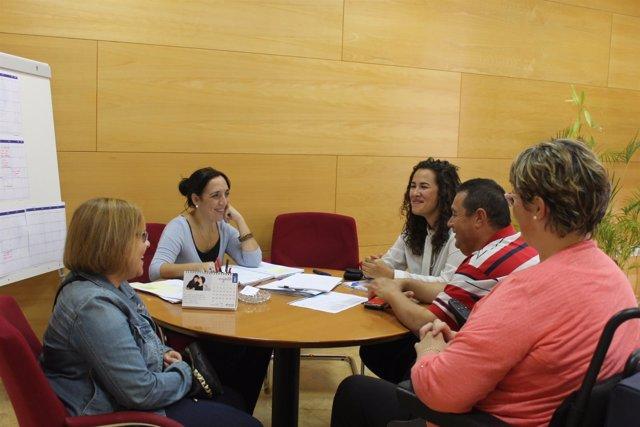 Reunión del Ayuntamiento de Huelva con Aspedio