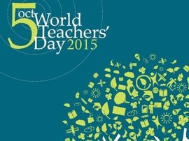 """Día Mundial del Docente: """"empoderar"""" al profesorado para construir sociedades sostenibles"""