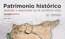 El patrimonio histórico destruido por Estado Islámico en Siria, en mapa e imágenes