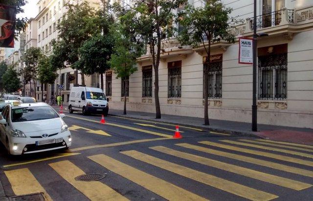 Doble sentido de circulación en calle Córdoba por las obras del metro
