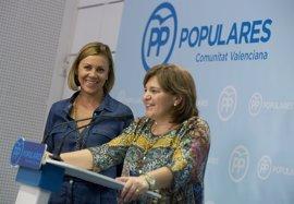 Cospedal, convencida de que Bonig será dentro de poco la primera presidenta del Consell