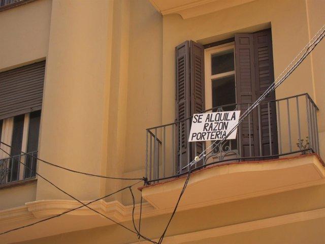 Se alquila, cartel, alquilar, alquiler, arrendamiento