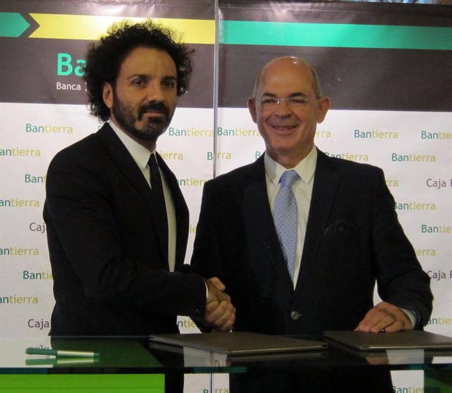 Toño Becerril y Jesús García Polo, de AJE y Bantierra