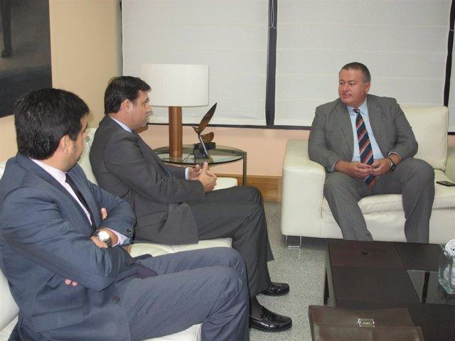 Reunión con el presidente de la Asociación de Promotores de la Región de Murcia