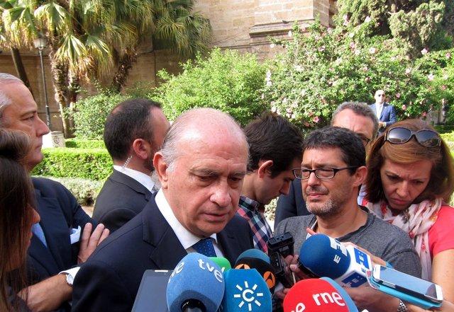 Jorge Fernández Díaz, ministro del Interior, en Málaga