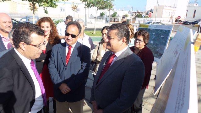 Inauguración de las obras de defensa del arroyo Almonázar